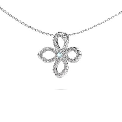 Picture of Necklace Chelsea 585 white gold aquamarine 2 mm