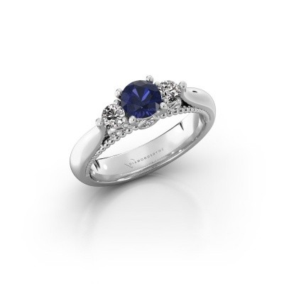 Picture of Engagement ring Tiffani 585 white gold sapphire 5 mm