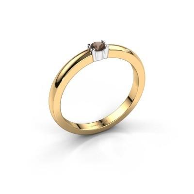 Foto van Promise ring Yasmin 1 585 goud rookkwarts 2.7 mm
