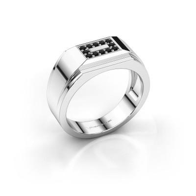 Foto van Heren ring Roan 925 zilver zwarte diamant 0.216 crt