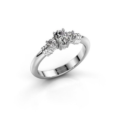 Foto van Promise ring Pippa 585 witgoud diamant 0.51 crt