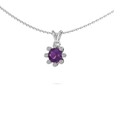 Picture of Pendant Carola 3 375 white gold amethyst 6 mm