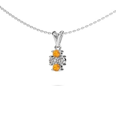 Picture of Necklace Richelle 585 white gold citrin 3 mm