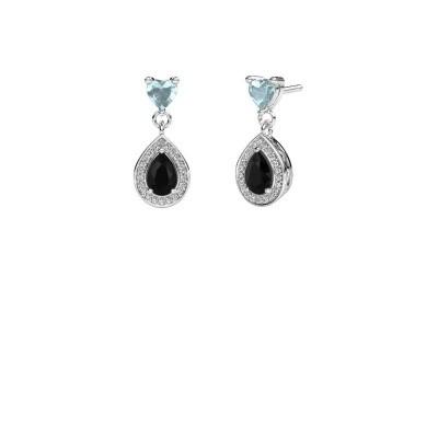 Picture of Drop earrings Susannah 950 platinum black diamond 1.69 crt