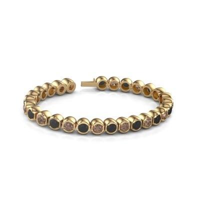 Foto van Tennisarmband Delma 375 goud bruine diamant 7.00 crt