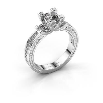 Aanzoeksring Ninthe 585 witgoud diamant 0.889 crt