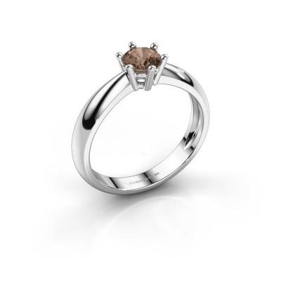 Foto van Verlovingsring Fay 925 zilver bruine diamant 0.50 crt