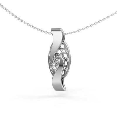 Picture of Pendant Darleen 925 silver diamond 0.10 crt
