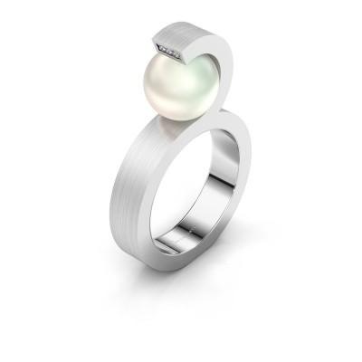 Foto van Ring Juana 950 platina witte parel 9 mm