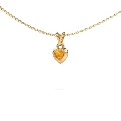 Picture of Pendant Charlotte Heart 585 gold citrin 4 mm