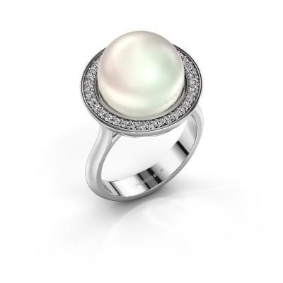 Foto van Ring Grisel 375 witgoud witte parel 12 mm