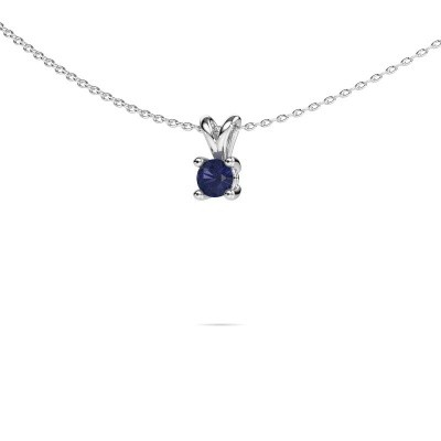 Picture of Necklace Sam round 950 platinum sapphire 4.2 mm