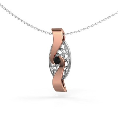 Picture of Pendant Darleen 585 rose gold black diamond 0.12 crt