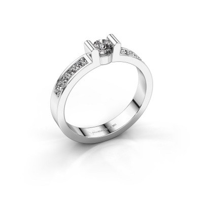 Verlovingsring Sofie 2 585 witgoud diamant 0.35 crt