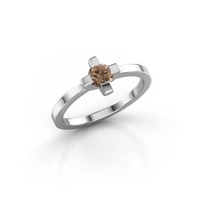 Foto van Ring Therese 950 platina bruine diamant 0.30 crt