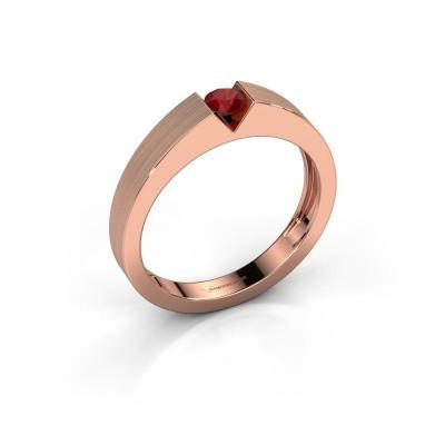 Foto van Verlovingsring Lizzy 1 585 rosé goud robijn 3.7 mm