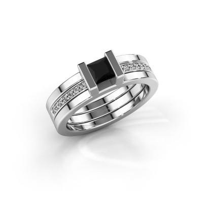 Foto van Ring Desire 925 zilver zwarte diamant 0.615 crt