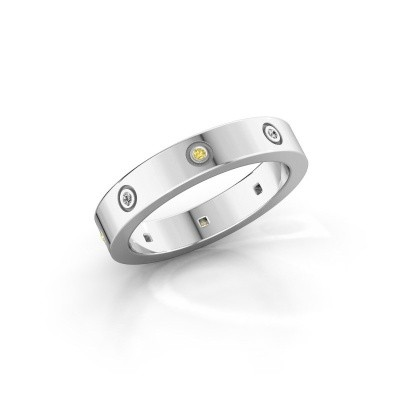 Picture of Ring Carrie 4 585 white gold yellow sapphire 1.1 mm