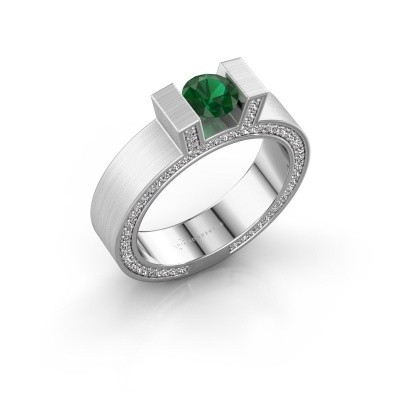 Picture of Ring Leena 2 585 white gold emerald 5 mm