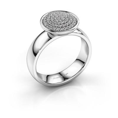 Foto van Ring Tilda 585 witgoud zirkonia 1 mm