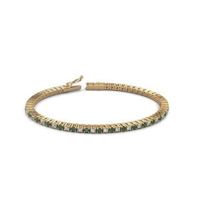 Foto van Tennisarmband Karisma 375 goud smaragd 2.4 mm