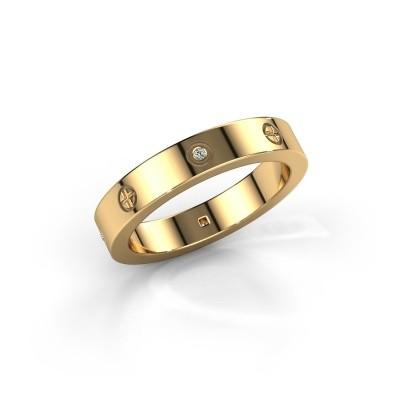 Foto van Ring Carrie 3 585 goud diamant 0.034 crt