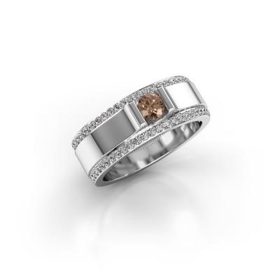 Foto van Herenring Danillo 950 platina bruine diamant 0.705 crt