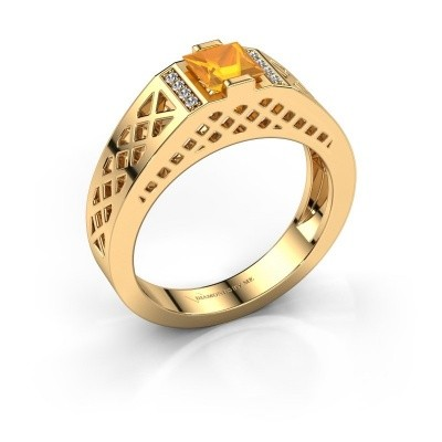 Foto van Heren ring Jonathan 585 goud citrien 5 mm
