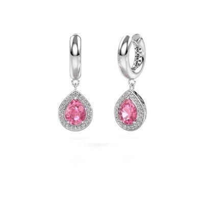 Picture of Drop earrings Barbar 1 585 white gold pink sapphire 8x6 mm