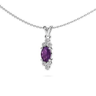 Picture of Pendant Lucy 2 585 white gold amethyst 7x5 mm