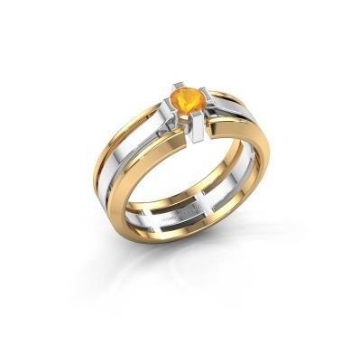 Foto van Heren ring Sem 585 witgoud citrien 4.7 mm