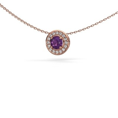 Picture of Pendant Agaat 375 rose gold amethyst 5 mm