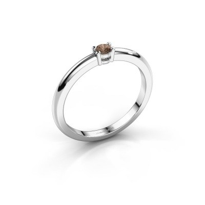 Foto van Verlovingsring Michelle 1 585 witgoud bruine diamant 0.08 crt