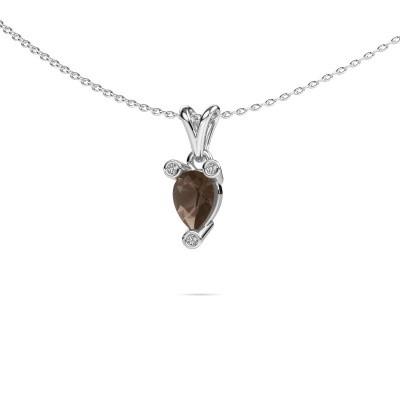 Picture of Necklace Cornelia Pear 950 platinum smokey quartz 7x5 mm