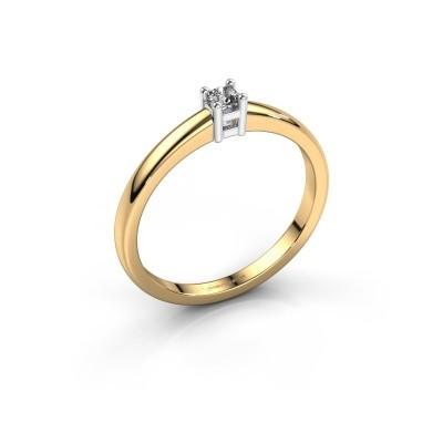 Foto van Promise ring Eline 1 585 goud zirkonia 3 mm