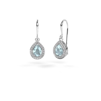 Picture of Drop earrings Beverlee 1 585 white gold aquamarine 7x5 mm