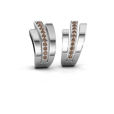 Picture of Earrings Emeline 925 silver brown diamond 0.20 crt