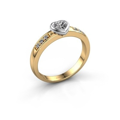 Picture of Engagement ring Lieke Heart 585 gold diamond 0.340 crt