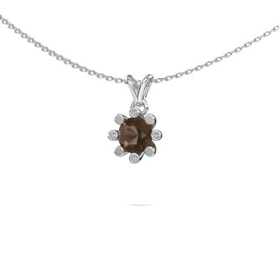 Picture of Pendant Carola 2 585 white gold smokey quartz 6 mm