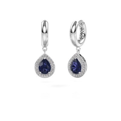 Picture of Drop earrings Barbar 1 925 silver sapphire 8x6 mm