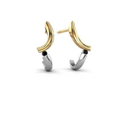 Bild von Ohrringe Tish 585 Gold Schwarz Diamant 0.036 crt