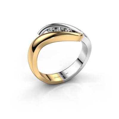 Ring Ilene 585 goud diamant 0.145 crt