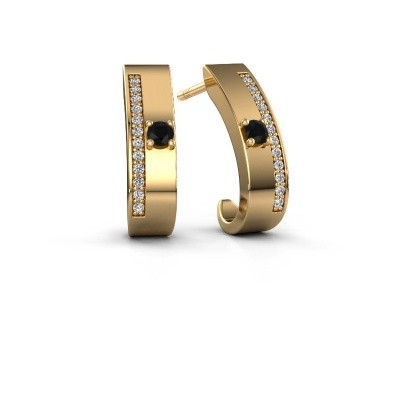 Bild von Ohrringe Vick1 375 Gold Schwarz Diamant 0.252 crt