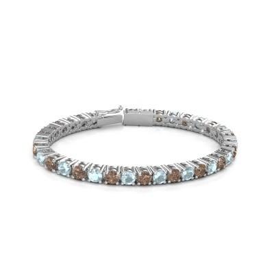 Foto van Tennisarmband Ming 750 witgoud bruine diamant 17.00 crt