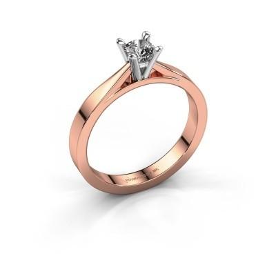 Foto van Aanzoeksring Catrina 585 rosé goud diamant 0.25 crt