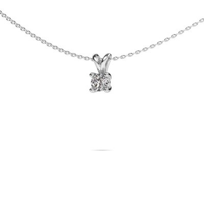Picture of Necklace Sam round 585 white gold diamond 0.30 crt