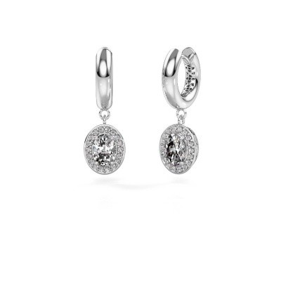 Picture of Drop earrings Annett 375 white gold zirconia 7x5 mm