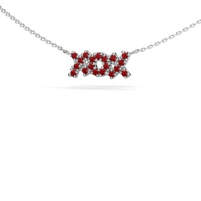 Picture of Necklace XoX 925 silver ruby 1.5 mm