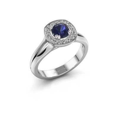 Picture of Ring Carolina 1 585 white gold sapphire 5 mm