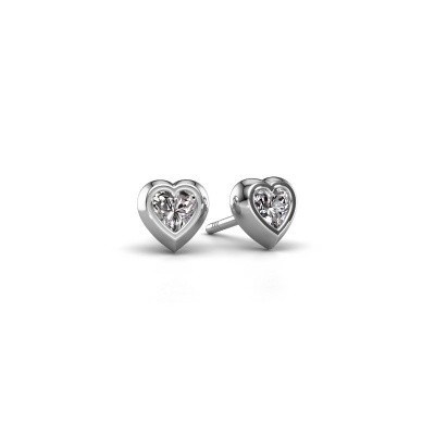 Picture of Stud earrings Charlotte 925 silver zirconia 4 mm